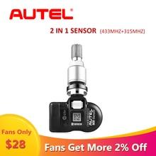 100% Original AUTEL 2 In 1 TPMS Sensor 433 315 Mhz MX-Sensor tyre pressure sensor Tire Monitoring TPMS car Programmable Sensor e3x zd11 sensor