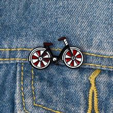 ¡Novedad de 2019! broche rojo para bicicleta, Pin para bicicleta, insignias para ciclistas de estilo clásico, Pin para solapa deportiva, joyería para ciclismo, regalo para motociclista