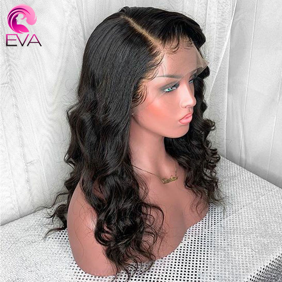 Eva Hair Glueless Body Wave 13x6 Lace Front Human Hair Wigs Pre Plucked With Baby Hair Brazilian Remy Hair Wig For Black Women(China)