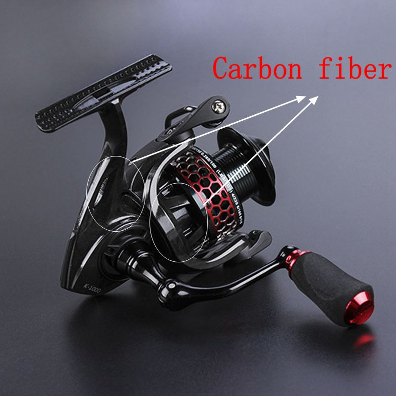 ФОТО 2016 New Carbon Fiber Fishing Reel 9+1BB 5.2:1 Spinning Reel Super Light Carbon Body series 3000/4000 Salt Water