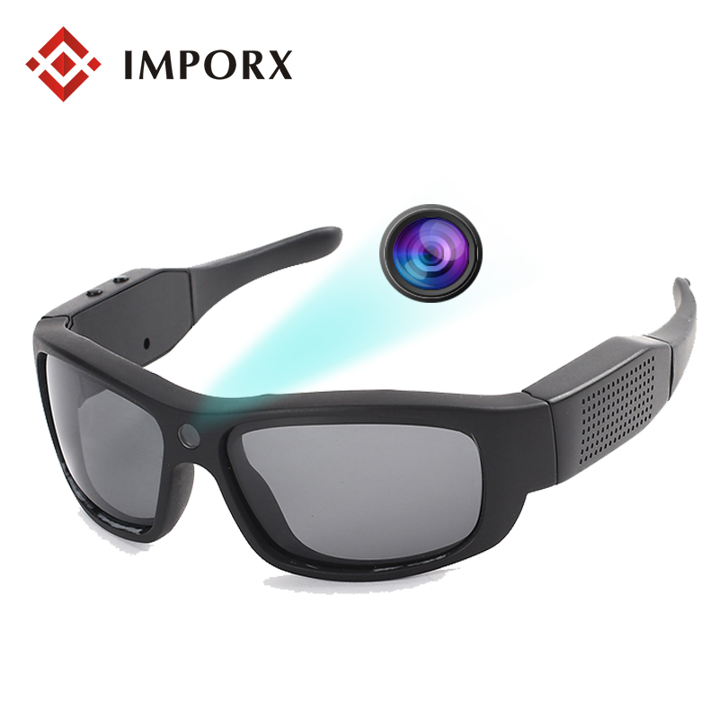 HD 1080P Digital Mini Sunglasses Camera Video Recorder Sport Polarized-lenses Sunglasses Camcorder Eyewear Video Recorder stylish two color match lenses hipsters sunglasses for unisex aviator