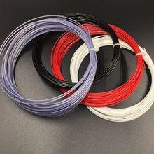 1 pc zarsia hexagonal polyster tennis string 1.23mm hexa rotação raquetes de tênis corda (preto/vermelho/cinza/branco)