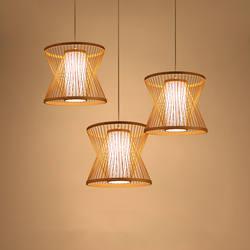 Винтаж светодиодный подвесные светильники Bamboo светодиодный подвесные светильники Гостиная подвесной светильник Home Decor подвесной