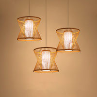 Vintage LED Pendant Lamps Bamboo LED Pendant Lights Living Room Hanging Lamp Home Decor Suspension Luminaire Kitchen Fixtures