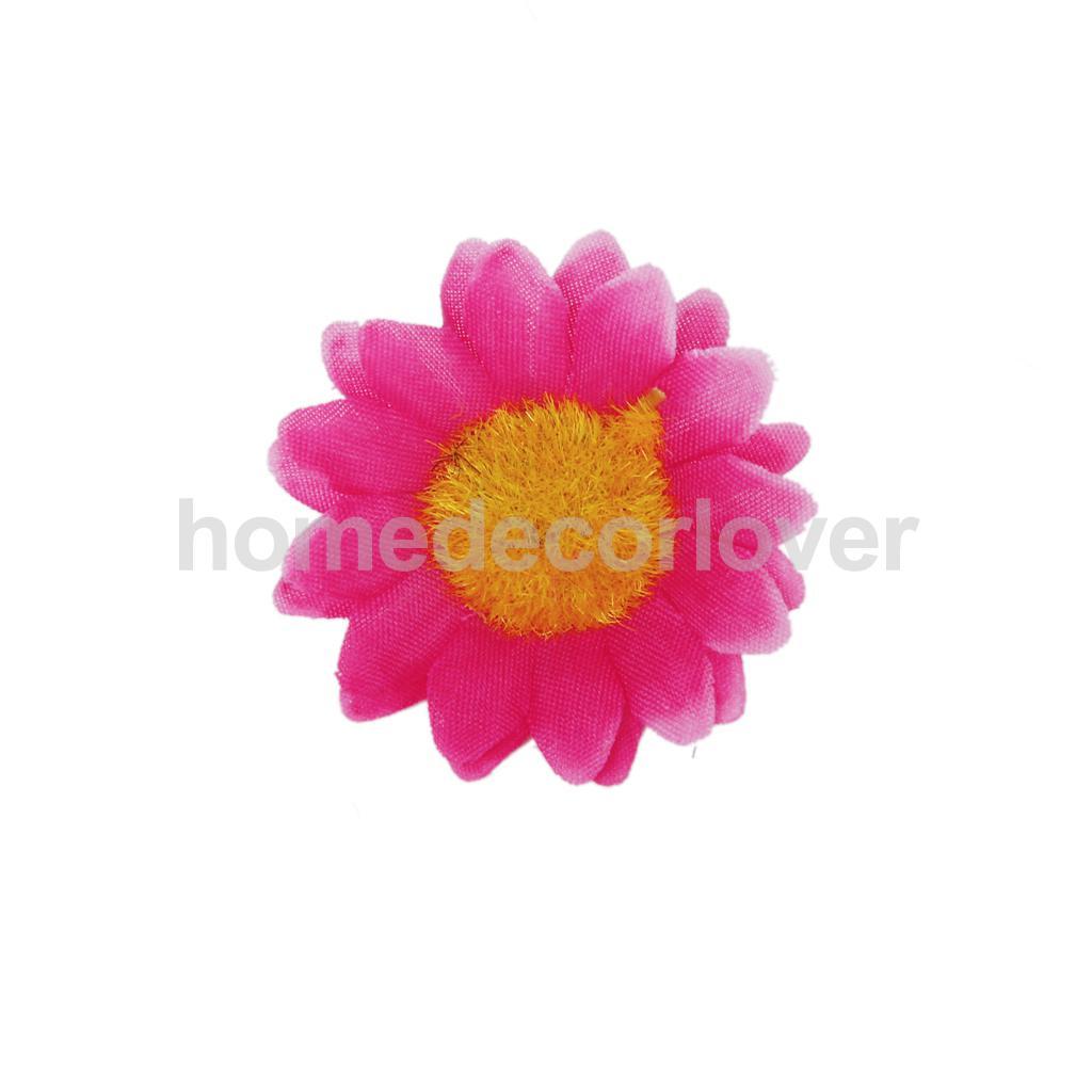 100x Dark Pink Artificial Gerbera Daisy Head Flower Wedding Arch