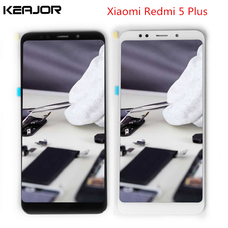 For Redmi 5 Plus LCD Screen Display Screen Tested Touch Screen With Frame Replacement for Xiaomi Redmi 5 Plus 5.99'' Black/White