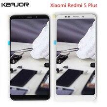 Хорошее Redmi 5 плюс ЖК-дисплей Экран дисплея испытания Сенсорный экран с заменой рамка для Xiaomi Redmi 5 плюс 5,99 »черный/ белый
