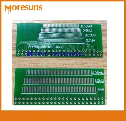 Fast Free Ship 100pcs/lot Powerful LCM,TFT LCD Universal Test Board adapter plate 46p 0.5 -1.05 spacing pcb board