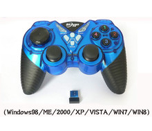 Computer PC 2.4Ghz wireless game controller with dual vibration dual joystick for Windows 98/ME/2000/XP/VISTA/WIN7/WIN8 thin client computer pc share terminal with 800mhz 32 bit wifi microphone touchscreen win7 vista supported