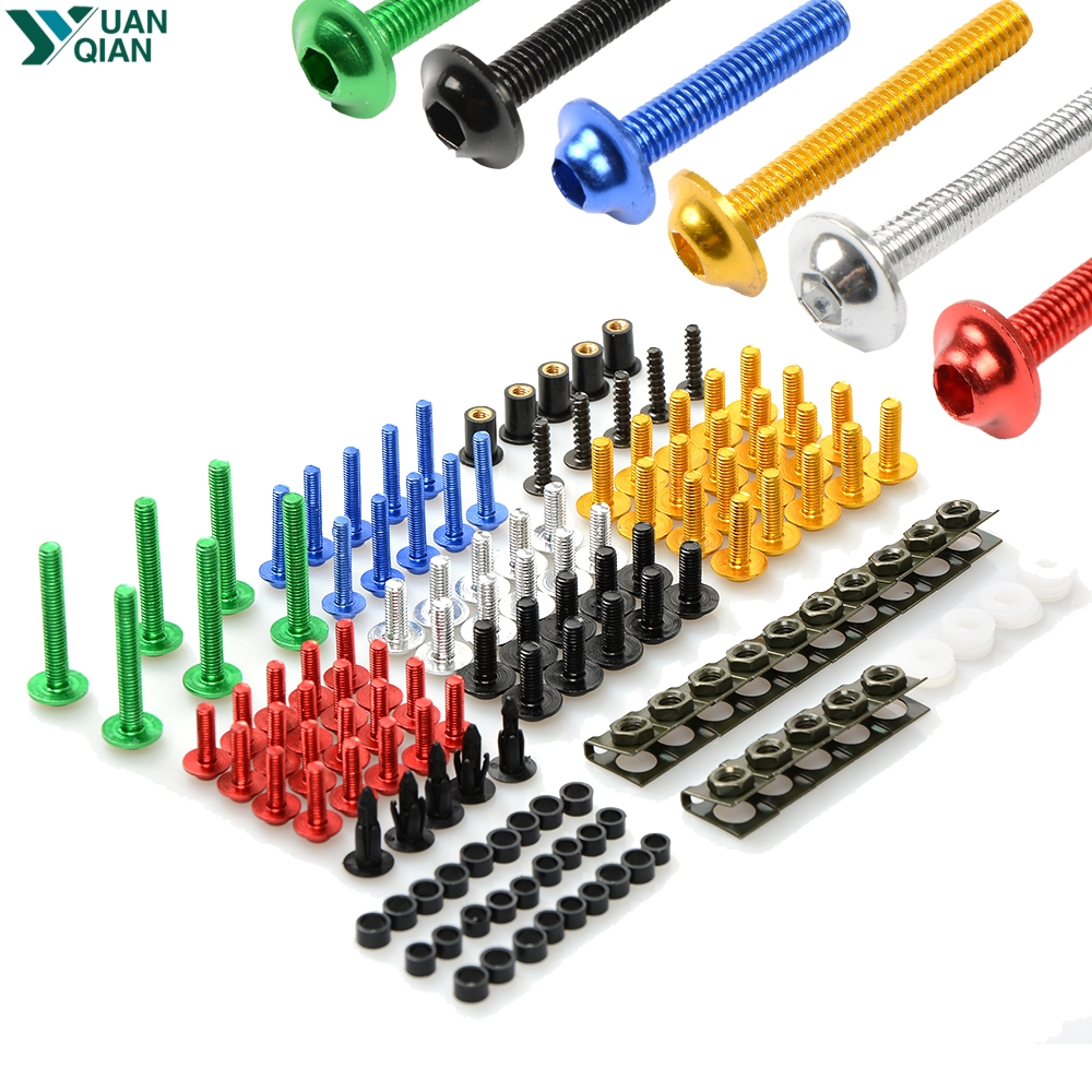 Universal CNC aluminum Fairing Bolts kit For Honda CBR600RR CBR954RR CB1000R CBR1000RR FIREBLADE CBR1100XX BLACKBIRD VFR800