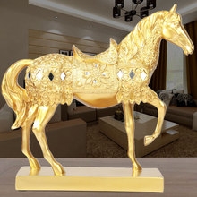 Height Silver Horse Statue Sliver Animal Sculpture Figurine Resin Crafts Modern Resin Mascot Home Office Decor Figurines Gift