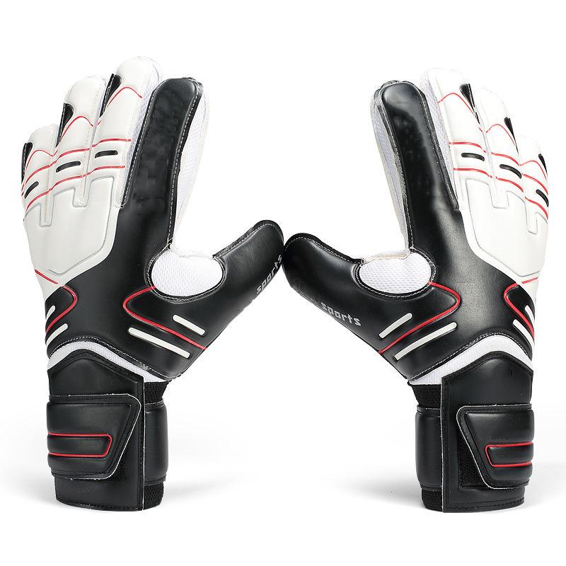 Hot Goalkeeper Goalie Keeper GK Gloves Finger Protect Soccer Size 7 8 9 10 цена