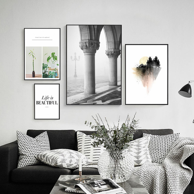 Wall Pictures Art Print Poster Wall Art Canvas Painting Grey Beauty Posters  And Prints Nordic Decoration Ideas