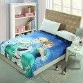Envío libre de Los Niños de dibujos animados de Coral polar mantas de la cama, la Nieve Niñas ropa de cama, tiro cubierta, Colcha 150X200 CM 5 diseño