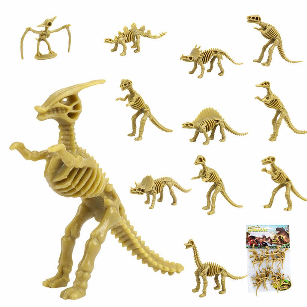 Crianças Brinquedos Dinossauro 12 Pacote Sortido Figuras Dino Ossos Esqueleto Fóssil (12 Peças) figuras sortidas Dino Ossos 3.7 Polegada