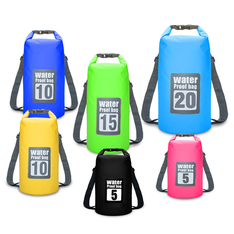 1b4a362eefeb Premium Waterproof Bag Dry Sack Adjustable Shoulder Strap Perfect for  Kayaking Boating Canoeing Fishing Rafting Swimming Camping-in Swimming Bags  from ...