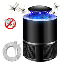 New Type USB Electric Mosquito Killer Photocatalyst Anti Mosquito Insect Killer Lamp with LED Bug Zapper Pest Repellent Lamp electronic mosquito killer lamp smart photocatalyst light bug insect mosquito repellent repeller zapper with us plug adapter