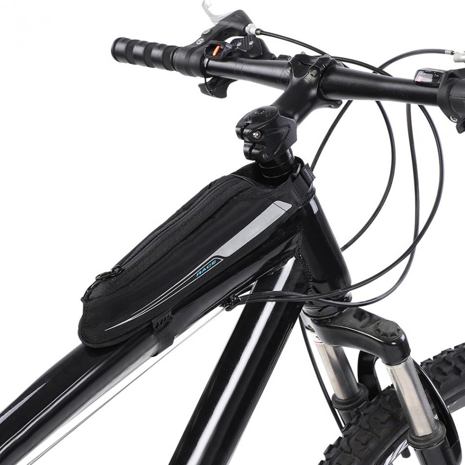Bicycle Cycling Top Tube Bags Mountain Road Bike Front Beam Storage Pouch Jacquard Mini Streamlined Bicycle Bag
