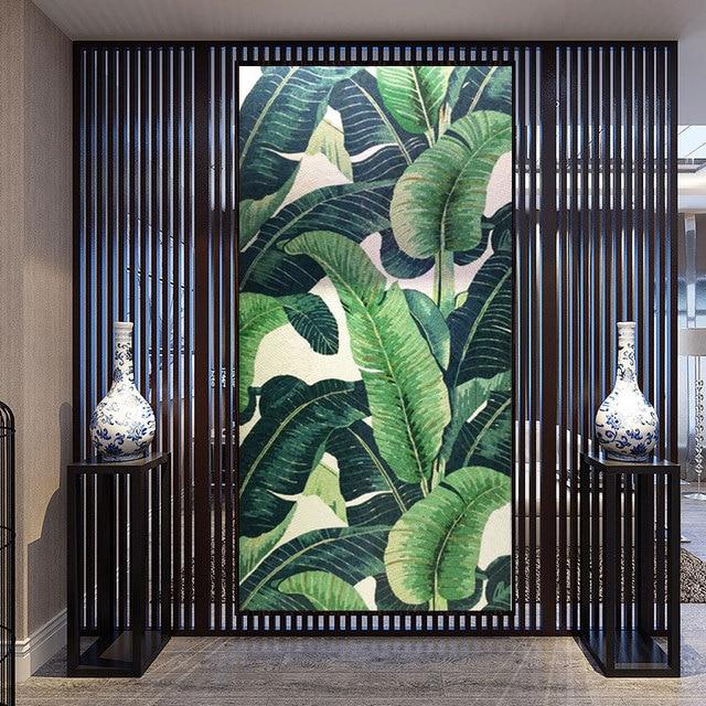 Ins Style Tropical Jungle Banane Grande Feuille Coupe à La Main
