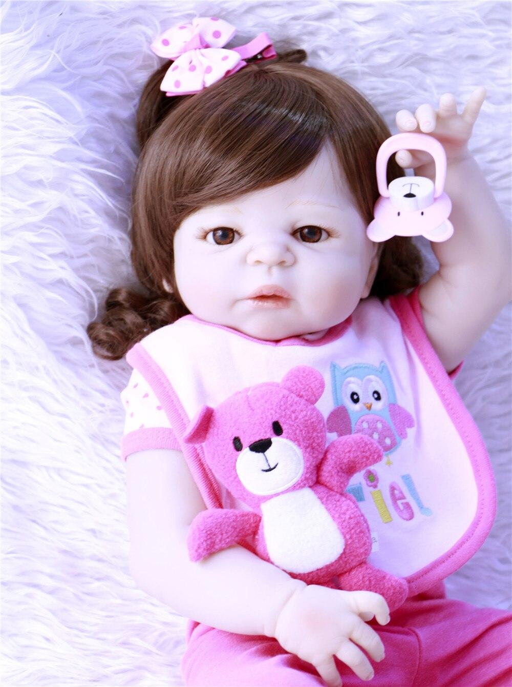Toys & Hobbies Npk Real 57cm Full Body Silicone Girl Reborn Babies Doll Bath Toys Princess Babies Doll Wig Hair Birthday Gift Kids Brinquedos