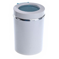 Portable Cylinder Shaped Blue LED Light   Auto   Car Cigarette Ashtray Cup Holder (White)