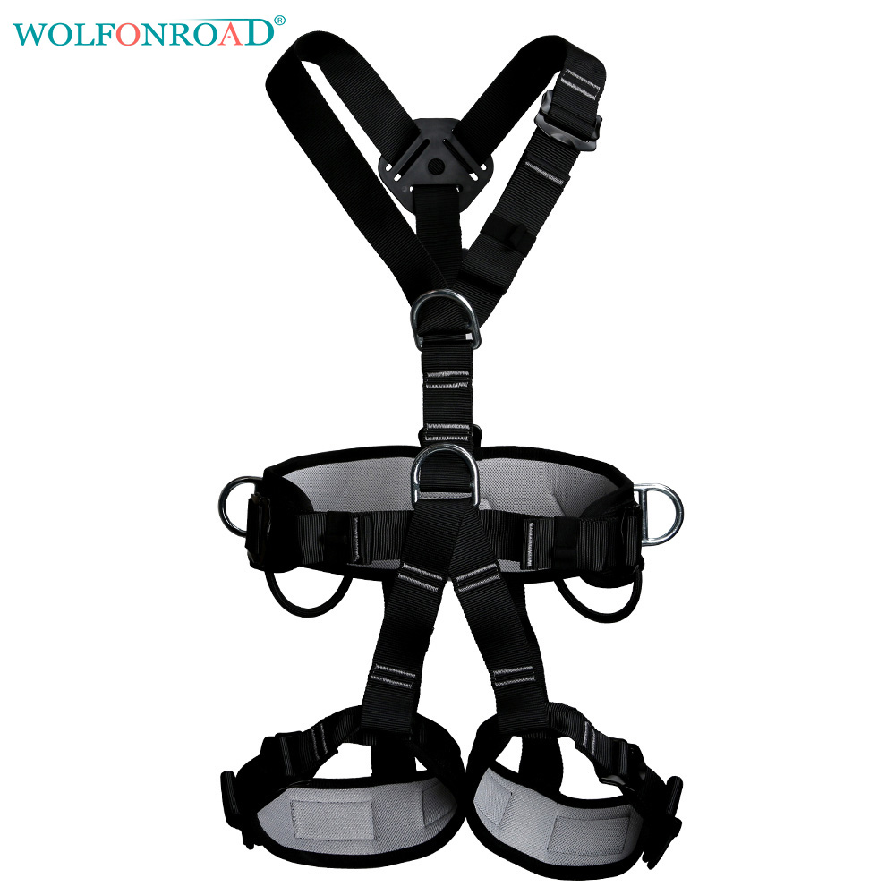WOLFONROAD Full Body Climbing Harness Belt Rock Climbing Harness for Fall  Arrest Positioning and Suspension Harness L XDQJ 28-in Climbing Accessories  from ...