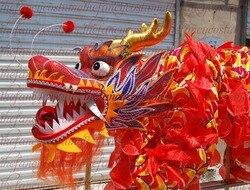 Volwassen speler Size 4 zijde frabic Chinese DRAAK DANCE ORIGINEEL Dragon Chinese Folk Festival Viering Draak Kostuum