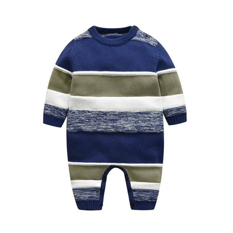 2ecbced70ed20 Winter Baby Rompers Overalls Infant Baby Boy Jumpsuit Cotton Winter ...