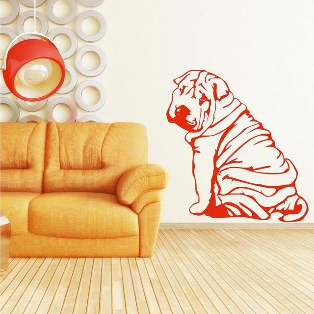 Online Shop Free Shipping Shar-Pei Sharpei dog Wall Mural Removable ...