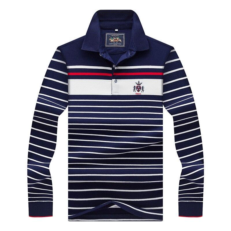 2018 Frühjahr Neue Männer Polo Shirts Langarm Frühling Herrenhemd Marken Camisa Polo Masculina Plus Größe M-3xl