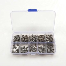 280pcs/set 304 Stainless Steel Screw hex socket button head bolt ISO7380 Hexagon socket head cap screws M3*5/6/8/10/12/14/16/20 30pcs lot free shipping m6 8 10 12 14 16 18 20 22 25 30 35 70mm stainless steel flat head drive hexagon socket cap screw bolt