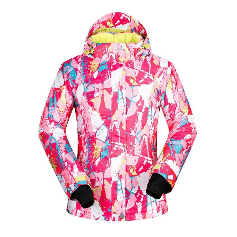 -35 degrés femmes veste de Ski Snowboard vêtements Sports de plein air Treking coupe-vent imperméable porter des vêtements d'hiver femme manteau de Ski