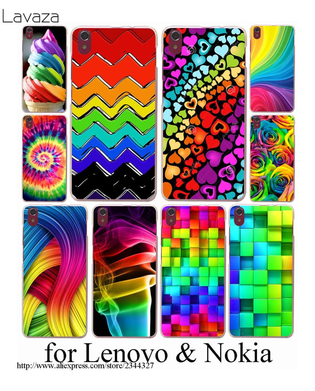 Lavaza Tie Dye Pattern Batic Rainbow Colourful Hard Case for Lenovo K6 note A328 A536 A1000 A2010 A5000 S850 S90 S60 ZUK Z2