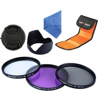 58MM UV CPL FLD Camera Lens Filter Kit Lens Hood Cap For Canon EOS 100D 700D