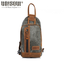 UNISOUL Vintage Crossbody bag of Men Casual Stone 2016 New Outdour Shoulder bag high quality Packet Canvas Women's Chest Pack