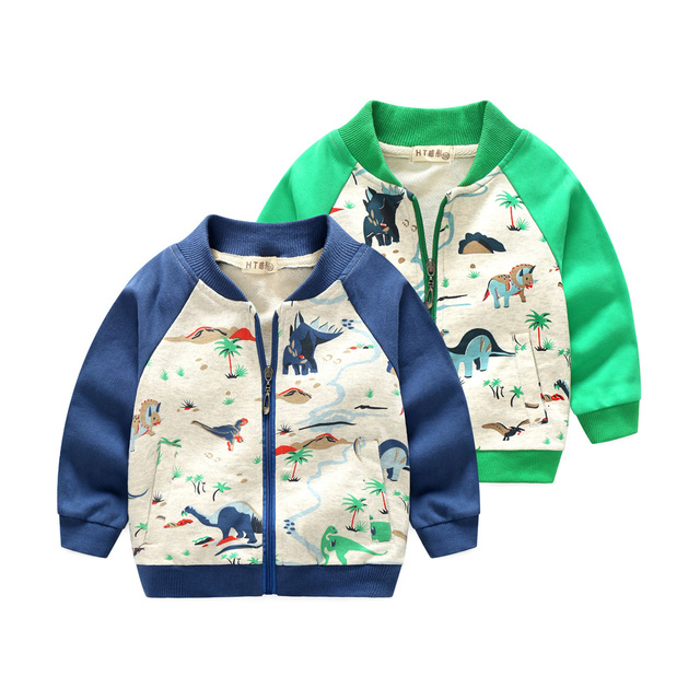 2018 Arrival Clothing For Baby Girls Boys Coat Cartoon dinosaur Printed jacket Autumn Kids Outerwear Children Clothes