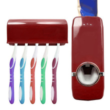 Family Use 2 pcs Automatic Toothpaste Dispenser + Toothbrush Holder sets Oral Care High Quality Plastic Toothbrush Holder sets