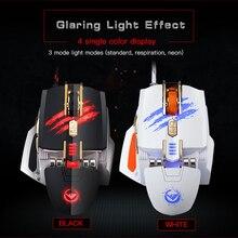Rajfoo Professionnel Optique Esport Gaming Souris Macro Programmable Souris 7 Boutons 4000 DPI Réglable LED USB Filaire pour Pro Gamer