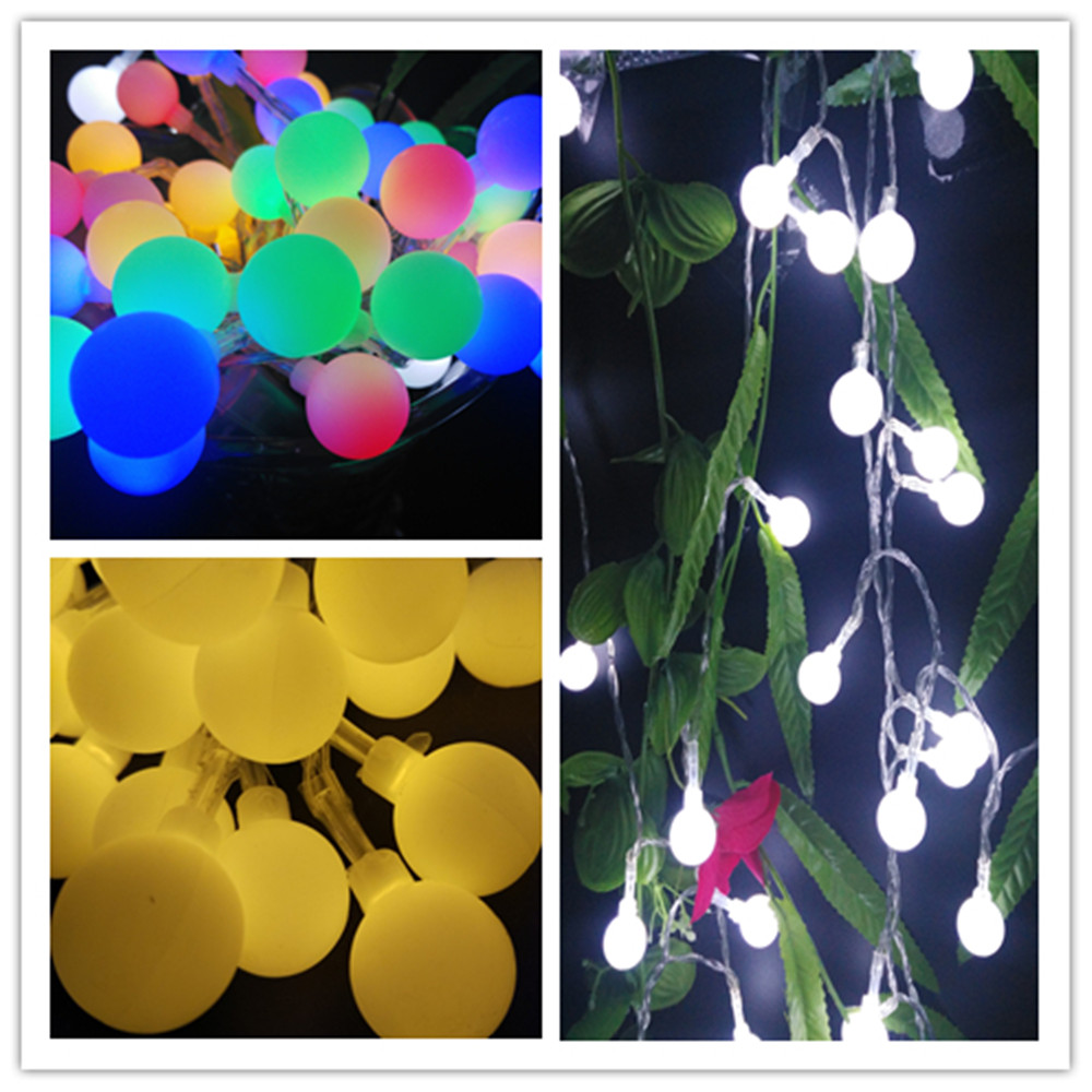 high voltage home and garden decoration ball globe led string lights (6)