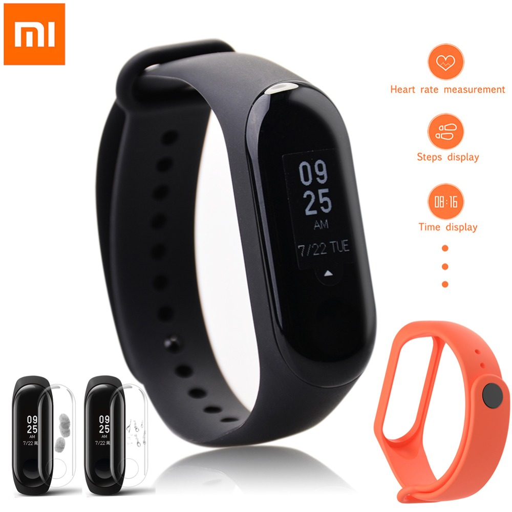 In Stock Original Xiaomi Mi Band 3 Miband 3 Mi Band 3 Smart Band 0.78inch OLED Touch Screen Mi Band 2 Upgraded Version Wristband