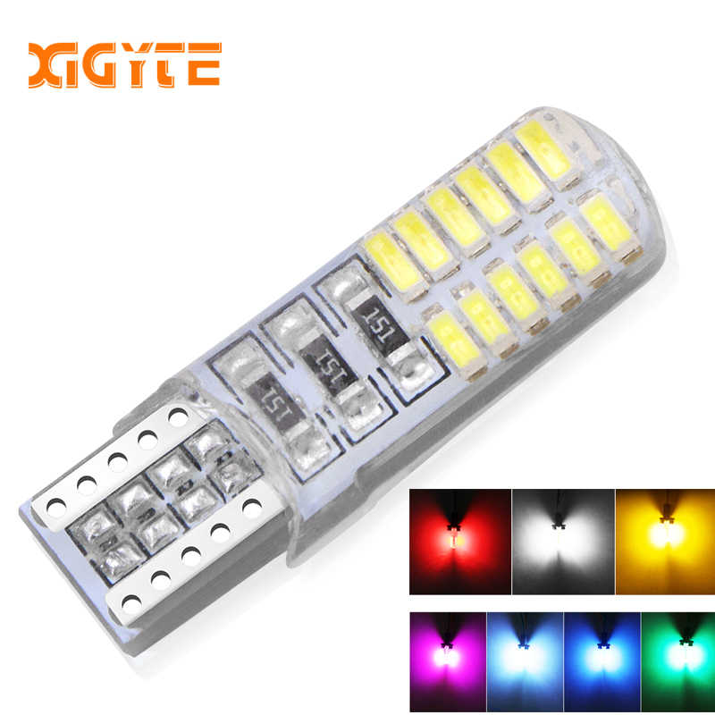 1pcs t10 w5w 24smd car led bulbs canbus auto Interior light Silica lamp waterproof Turn Signal plate 12V 5w5 24 SMD 194 501 D