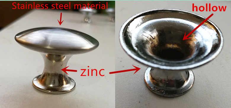 Stainless steel + zinc Cabinet Handles American style Kitchen Cupboard Door Pulls Drawer Knobs Fashion Furniture Handle Hardware