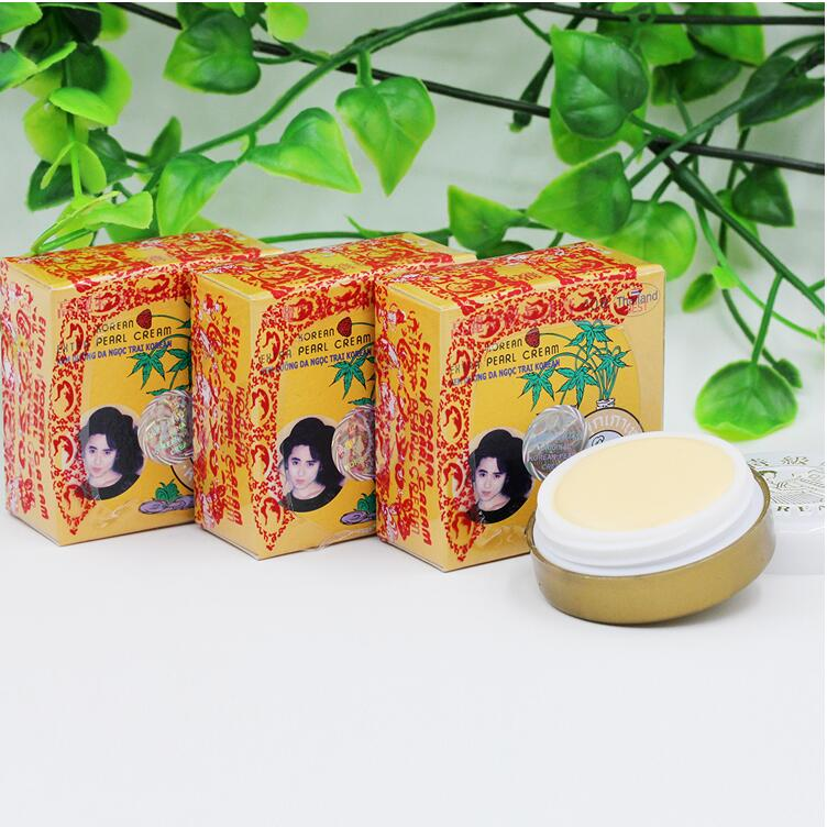 Thailand 100% Original Ginseng Pearl Cream Ointment Face Skin Whitening Repairing Moisturing And Nourishing Face Cream 5g/pcs