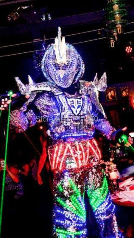 Светодиодный костюм/одежда со светодиодами/светодиодный легкие костюмы/светодиодные костюмы роботов/костюм робота