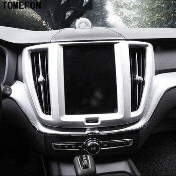 TOMEFON pour XC60 XC 60 2018 2019 SUV voiture avant Center navigateur écran couvercle garniture cadre spécial superposition accessoires de style