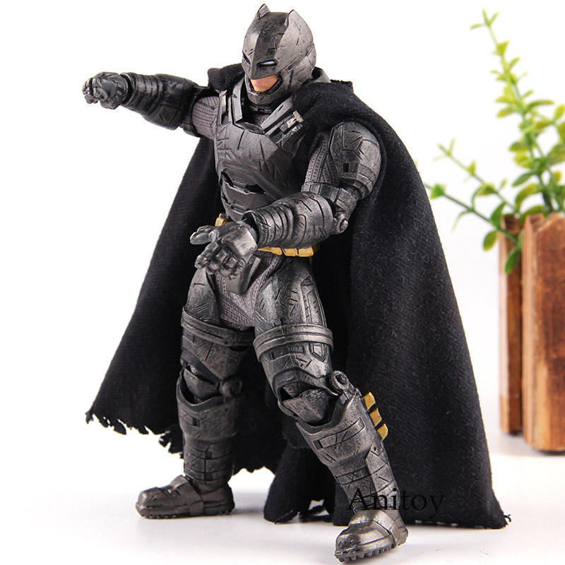 Batman V Superman: Dawn of Justice Batman Armored MEZCO One 12 Action Figure PVC Collection Model Boys Toys with Lighting Eyes new hot 25cm armor batman v superman dawn of justice enhanced version action figure toys collection christmas gift