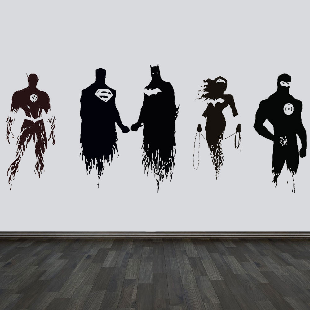 Movie Justice League Batman Superman Hero Decal Wall Art