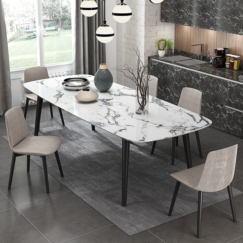 US $530.0 |2018 new fashion modern artifical marble dining table for dining  room #CET011-in Dining Tables from Furniture on AliExpress - 11.11_Double  ...