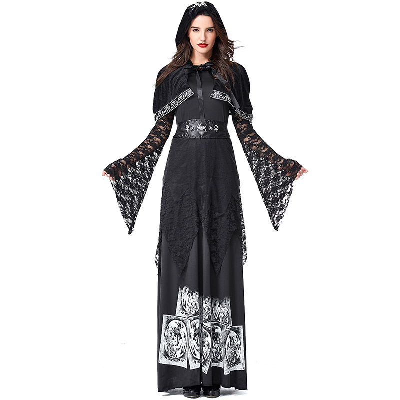 Halloween Costumes For Women Carnival Black Gothic Witch