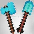 2 Pçs/lote Novos Brinquedos Minecraft Foam Espada Picareta Minecraft Jogo armas Modelo Brinquedos Crianças Brinquedos de Aniversário & Presente de Natal 18-23 polegadas